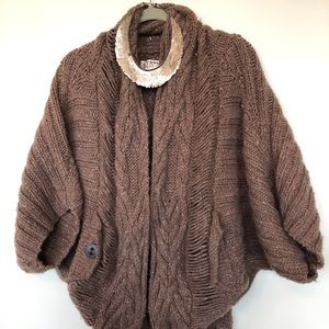 Funky knit textured oversize sweater